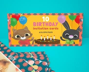 impresion para Tarjetas de Cumpleaños Kiddy (210x95mm.)