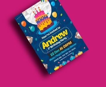impresion para Tarjetas de Cumpleaños Let's Party (210x139mm.)